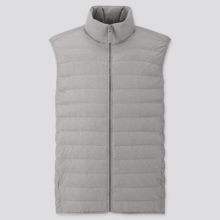 Men Ultra Light Down Vest, Gray, Large