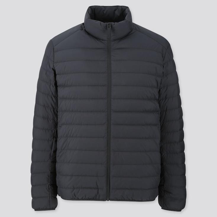 Men Ultra Light Down Jacket, Black, Large