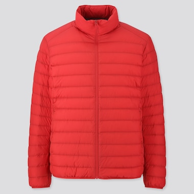 Men Ultra Light Down Jacket, Red, Medium