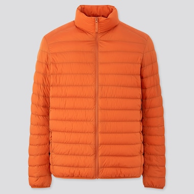 Men Ultra Light Down Jacket, Orange, Medium