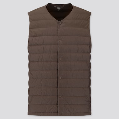 MEN ULTRA LIGHT DOWN COMPACT VEST, BROWN, medium