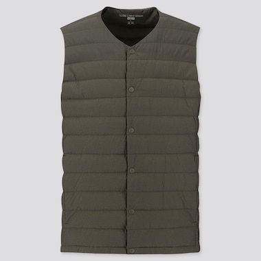 MEN ULTRA LIGHT DOWN COMPACT VEST, OLIVE, medium