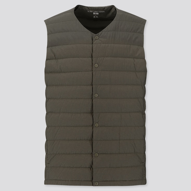 Men Ultra Light Down Compact Vest, Olive, Large