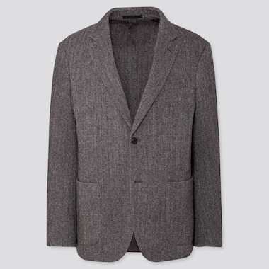 MEN TWEED JACKET, GRAY, medium
