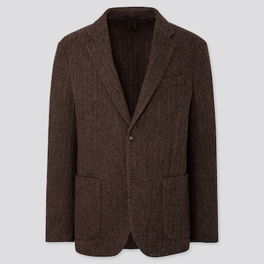 MEN TWEED JACKET, BROWN, medium