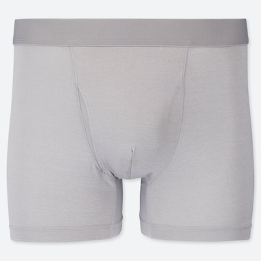 MEN AIRism BOXER BRIEFS, LIGHT GRAY, medium