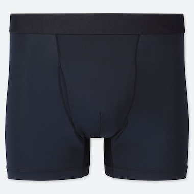 MEN AIRism BOXER BRIEFS, NAVY, medium