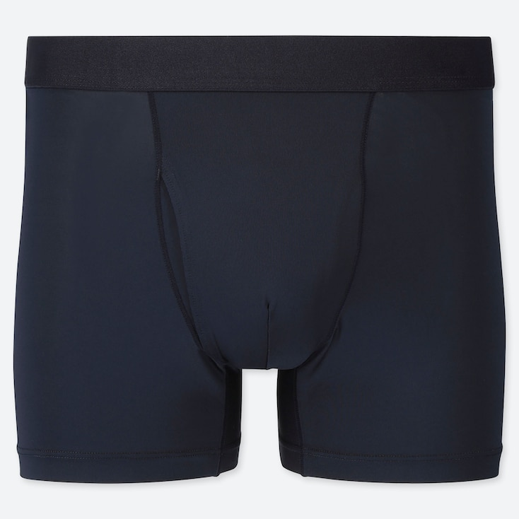 MEN AIRism BOXER BRIEFS, NAVY, large