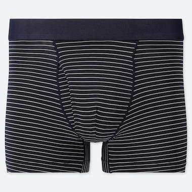 Men Airism Stripe Boxer Briefs, Navy, Medium
