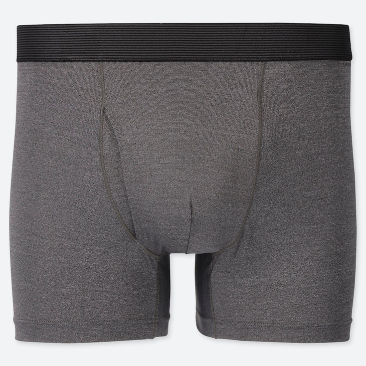 MEN AIRism BOXER BRIEFS, GRAY, large