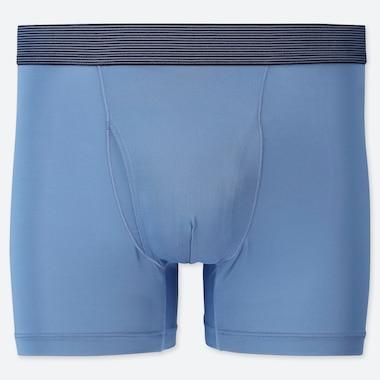 MEN AIRism BOXER BRIEFS, BLUE, medium
