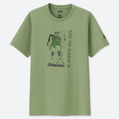 GUNDAM 40TH ANNIVERSARY UT (SHORT-SLEEVE GRAPHIC T-SHIRT), GREEN, medium