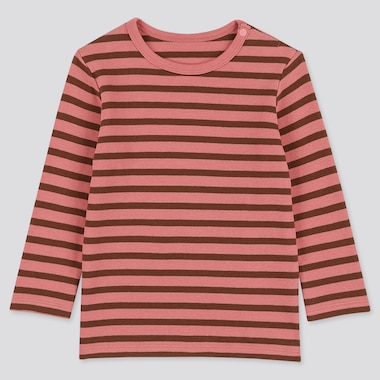 BABIES TODDLER STRIPED CREW NECK LONG SLEEVED T-SHIRT