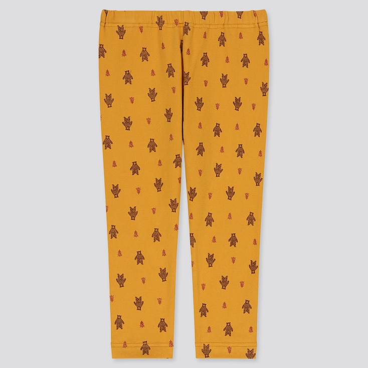 Baby Full-Length Leggings, Yellow, Large