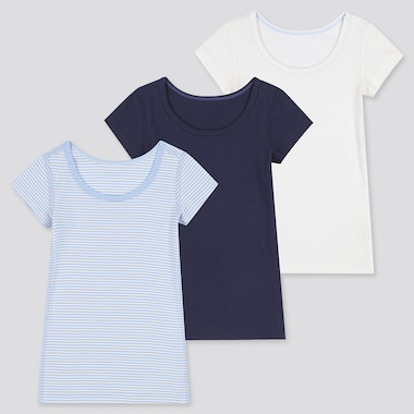 TODDLER COTTON INNER SHORT-SLEEVE T-SHIRT (SET OF 3) (ONLINE EXCLUSIVE), BLUE, medium
