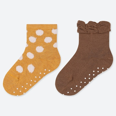 BABY SOCKS (2 PAIRS), YELLOW, medium