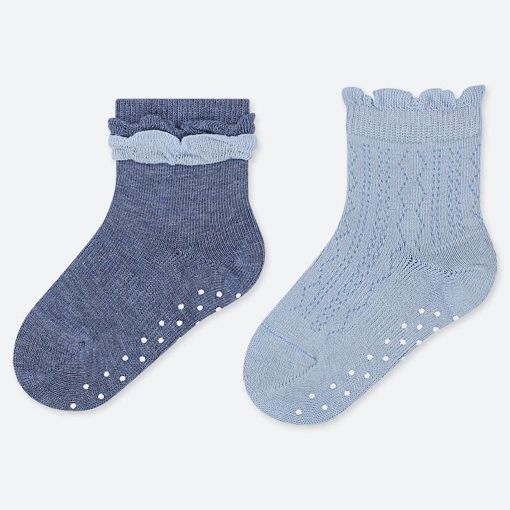 BABY SOCKS (2 PAIRS), BLUE, large