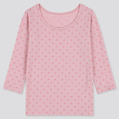 Toddler Heattech Scoop Neck Long-Sleeve T-Shirt, Pink, Medium