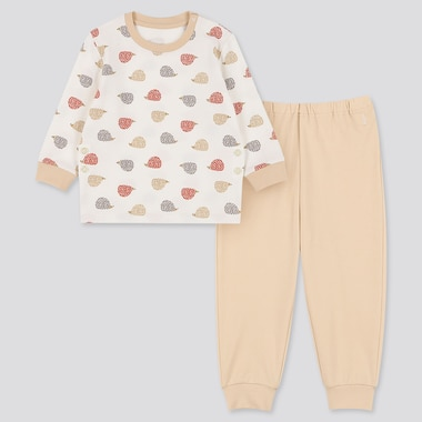 TODDLER LONG-SLEEVE PAJAMAS, OFF WHITE, medium