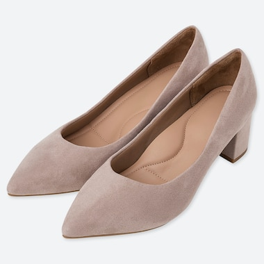 WOMEN CHUNKY HEELED SHOES, BEIGE, medium