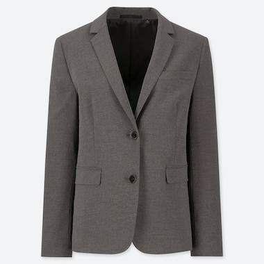 WOMEN STRETCH JACKET (ONLINE EXCLUSIVE), GRAY, medium