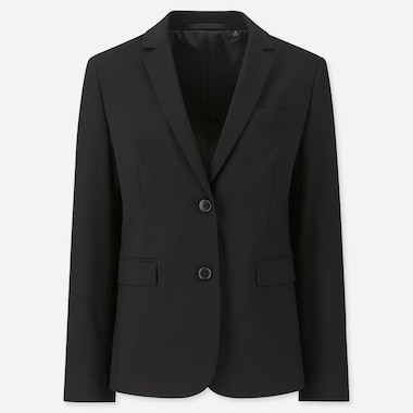 WOMEN STRETCH JACKET (ONLINE EXCLUSIVE), BLACK, medium