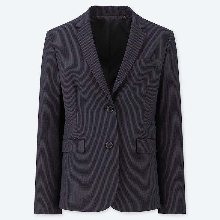 WOMEN STRETCH JACKET (ONLINE EXCLUSIVE), NAVY, large