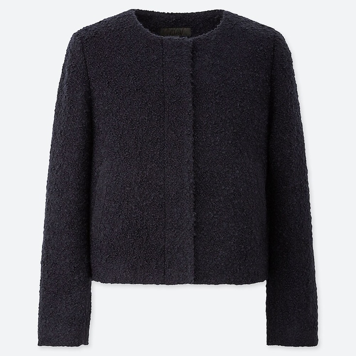 Giubbotto Tweed Senza Colletto Donna by Uniqlo