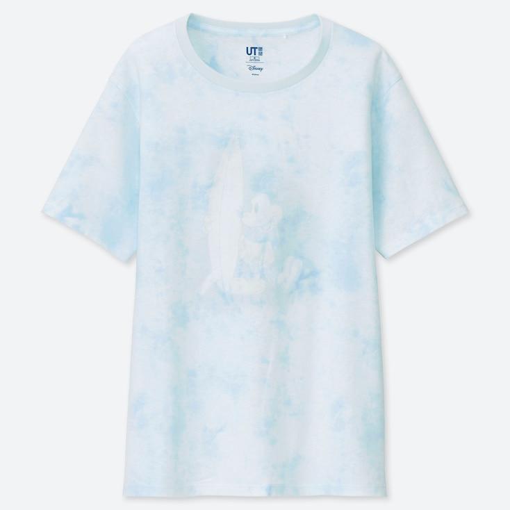 WOMEN MICKEY BLUE UT (SHORT-SLEEVE GRAPHIC T-SHIRT), LIGHT BLUE, large