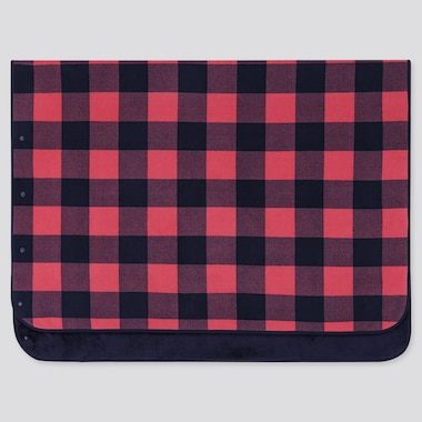 FLEECE BLANKET (BLOCK CHECKED), PINK, medium
