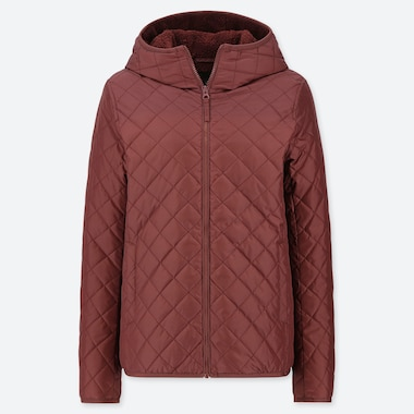 WOMEN PILE-LINED FLEECE QUILTED PARKA (ONLINE EXCLUSIVE), WINE, medium