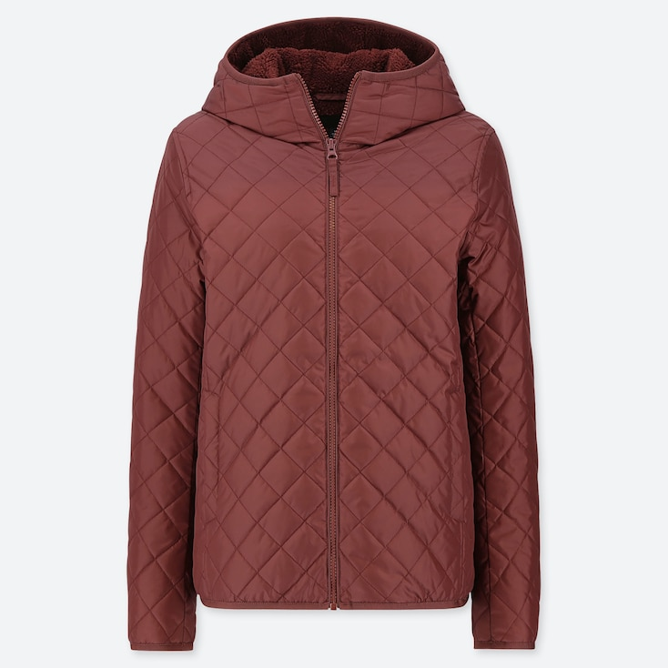 WOMEN PILE-LINED FLEECE QUILTED PARKA (ONLINE EXCLUSIVE), WINE, large