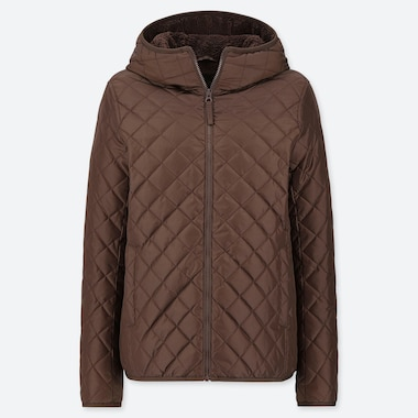 WOMEN PILE-LINED FLEECE QUILTED PARKA (ONLINE EXCLUSIVE), BROWN, medium