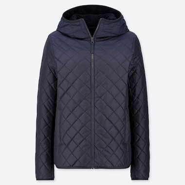 WOMEN PILE-LINED FLEECE QUILTED PARKA (ONLINE EXCLUSIVE), NAVY, medium