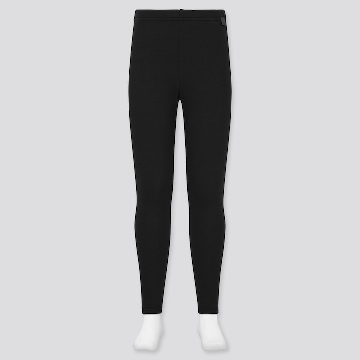 KIDS HEATTECH ULTRA WARM LEGGINGS, BLACK, large