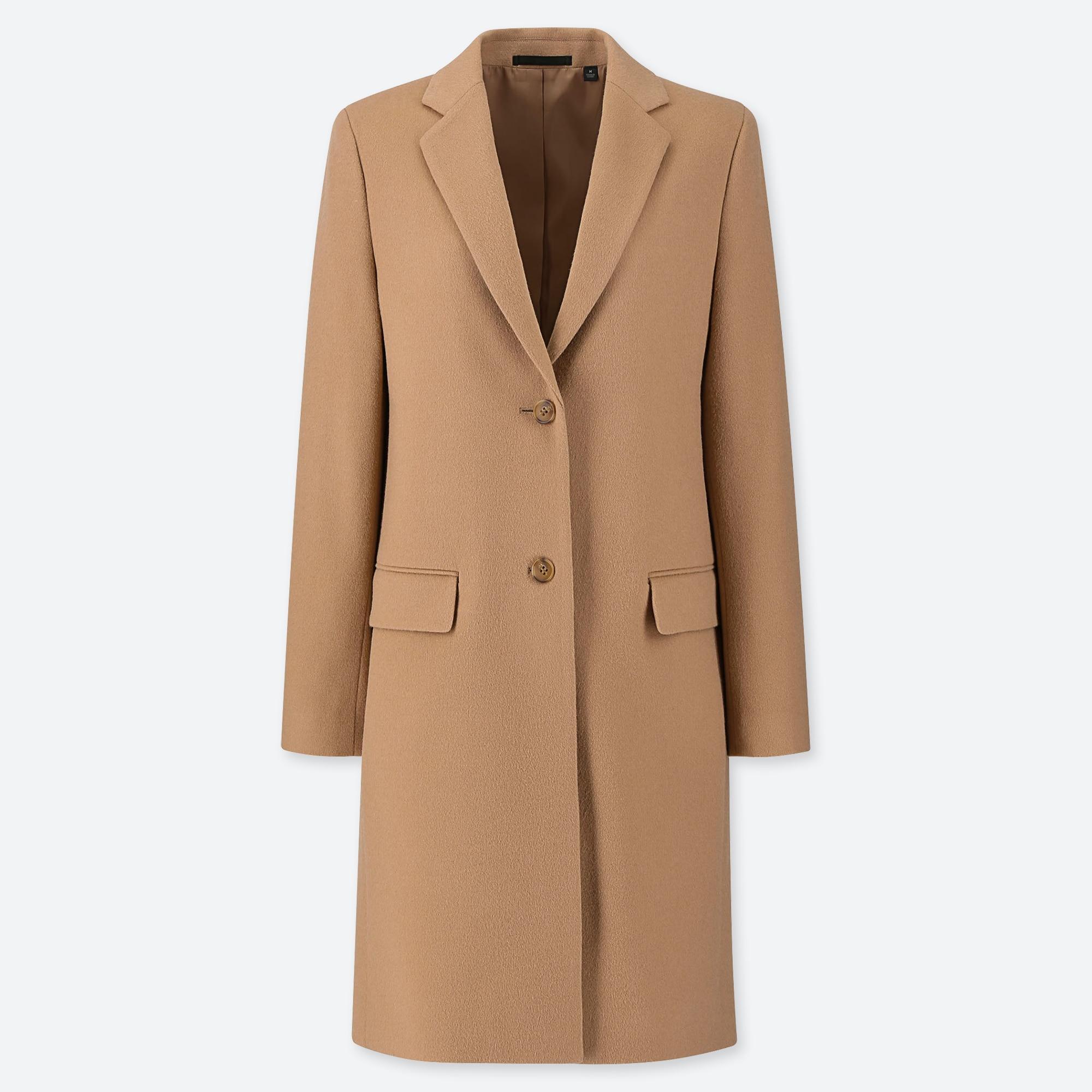 WOMEN CASHMERE BLEND CHESTER COAT