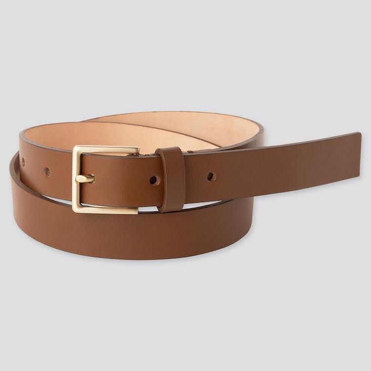Women Clean Belt, Brown, Large