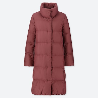 WOMEN LIGHTWEIGHT DOWN STAND COLLAR COAT