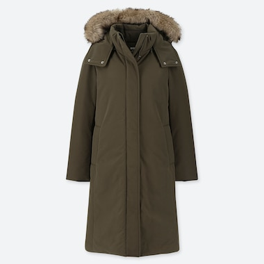 WOMEN HYBRID DOWN ULTRA WARM LONG COAT
