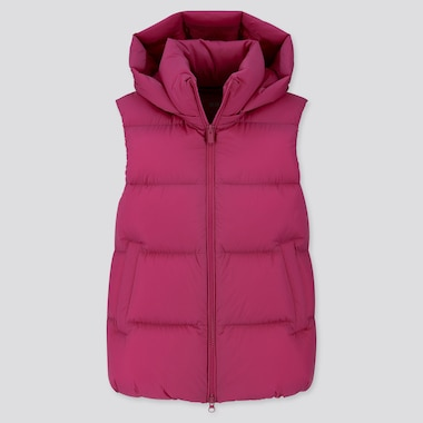 WOMEN ULTRA LIGHT DOWN HOODED PUFFER VEST
