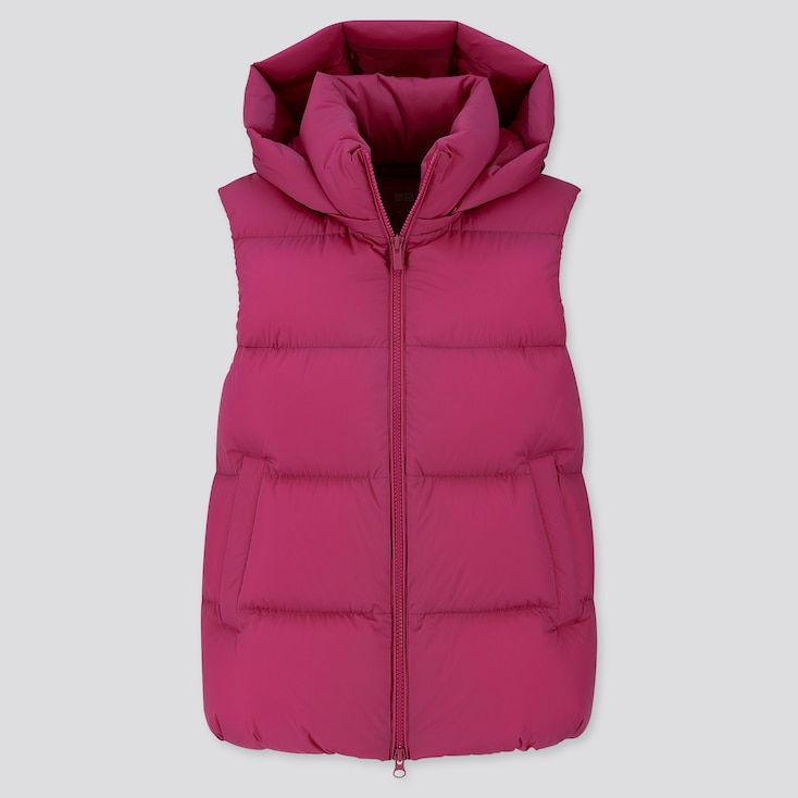 WOMEN ULTRA LIGHT DOWN PUFFER VEST, PINK, large