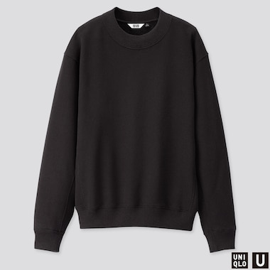 WOMEN U LONG-SLEEVE SWEAT PULLOVER, BLACK, medium