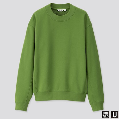 WOMEN U LONG-SLEEVE SWEAT PULLOVER, GREEN, medium