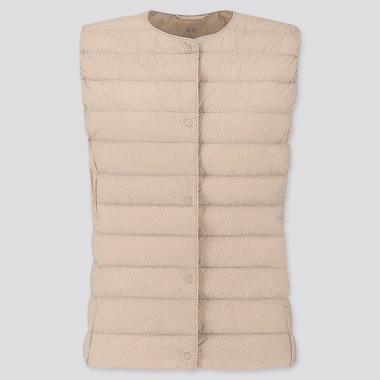 WOMEN ULTRA LIGHT DOWN COMPACT PRINTED VEST