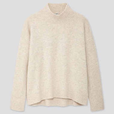 WOMEN SOUFFLE YARN MOCK NECK JUMPER