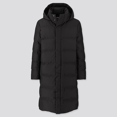 MEN SEAMLESS DOWN LONG COAT (ONLINE EXCLUSIVE), BLACK, medium