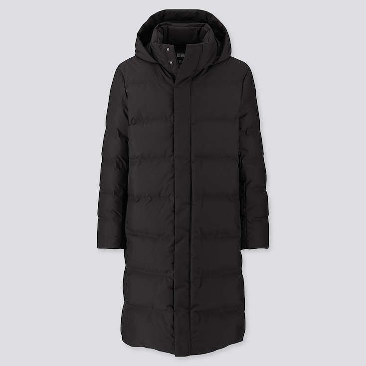 MEN SEAMLESS DOWN LONG COAT (ONLINE EXCLUSIVE), BLACK, large