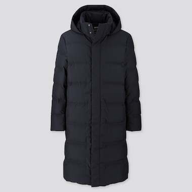 MEN SEAMLESS DOWN LONG COAT (ONLINE EXCLUSIVE), NAVY, medium