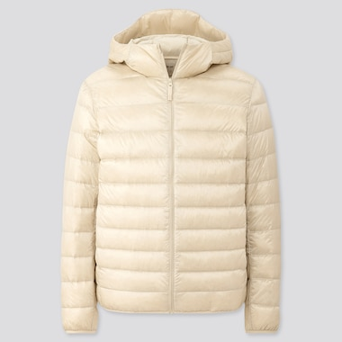 Men Ultra Light Down Parka, Off White, Medium