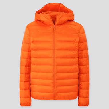 Men Ultra Light Down Parka, Light Orange, Medium